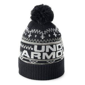 UNDER ARMOUR UNISEX FAIR ISLE HAT NEW BLACK